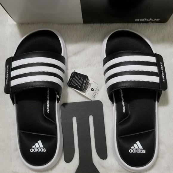 Adidas Superstar 3G Slide Sandal White Black